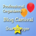Professional Organizers Blog Carnival Star Blogger